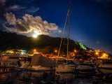 Moonrise over the Typhoon Shelter