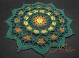 Frozen Lotus Doily