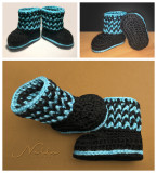 Ribbed Baby Booties