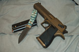 Desert Eagle and Custom Mammoth Tooth Knife