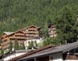 Our hotel, high above Zermatt
