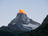 Alpengolw on the Matterhorn