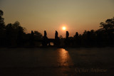 Sunrise at the Bridge to Preah Khan