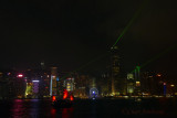 Laser Light Show Hong Kong Harbor