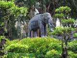 Bronze Elephant at the Saigon Botanical Garden