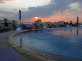 Sunset at the Rooftop Pool, Sofitel Saigon Plaza