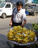 Our Guide, Dominic, Checking the Bananas