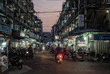 Night fall on the streets of Saigon