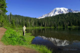 Mt Rainier with My Favorite Photographer in the Scene