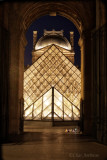 Louvre Pyramid Through the Archway