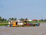 A floating House on the Mekong