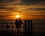 Lovers Enjoying the Sunset