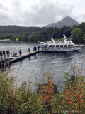 Boarding the Loch Lomond Cruise Boat