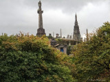 A View to the Victorian Cemetery Behind Glasgow Cathedral