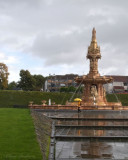 Doulton Fountain on a Rainy Day