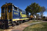 Train on display at Barstow Railroad Depot