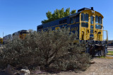 Train on display at Barstow Train Station