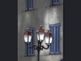Blue shutters & Lampost