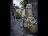 Bormes-Fountain overlooking village