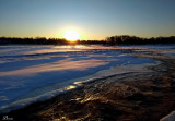 Coucher de soleil hivernal - Really cold sunset