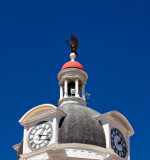 Courthouse detail, clock tower and dome