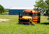A well used school bus in Cistern, Tx