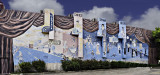 This mural is painted on the side of a theater in Port Lavaca, Texas