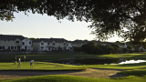 A late afternoon golf outing