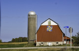 Barn in Door County WI with a Barn Quilt attached.