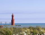 The Algoma harbor lighthouse