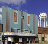 A very nice art deco theater. Now repurposed as a retail establishment, Covington, TN