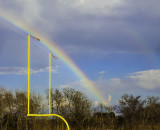 Rainbow through the goal posts