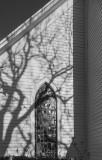 Church shadows.