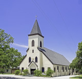 Sacred Heart catholic church, Rockne, TX. Parish established in 1876.