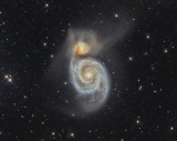 M51 and NGC5195 in Canes Venatici