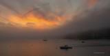 Foggy Sunset on Linekin Bay