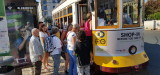 Tram 28 and the castle of Lisbon