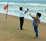 Selfies on the Seashore