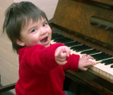 Charlie, the exuberant pianist, finds middle C