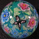 #144: Double Rose of Sharon & Butterflies Size: 1.30 Price: $310