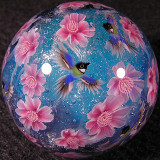 #147: Cherry Blossoms & Japanese Tit Birds Size: 1.29 Price: $370