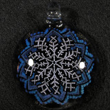 #360: Mark Eastman (Introvert Glass), Wandering Snowflake Size: 2.05 Price: $200