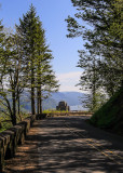 Crown Point Vista House from Historic US Highway 30 along the Columbia River Gorge