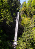 View of Latourell Falls along the Columbia River Gorge