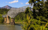 Bridge of the Gods at the Cascade Locks over the Columbia River Gorge
