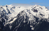 Mount Carrie (right) and other peaks along Hurricane Ridge in Olympic National Park