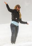Hurricane Ridge fan poses in Olympic National Park