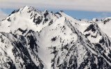 Mountain peaks in the Bailey Range in Olympic National Park