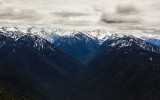 Southern view of the Bailey Range in Olympic National Park