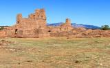 Mission of San Gregorio de Abo with Manzano Mountains in Salinas Pueblo Missions National Monument